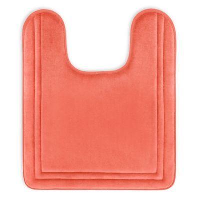 Microdry Speed Dry 21 X 24 Memory Foam Contour Bath Mat In
