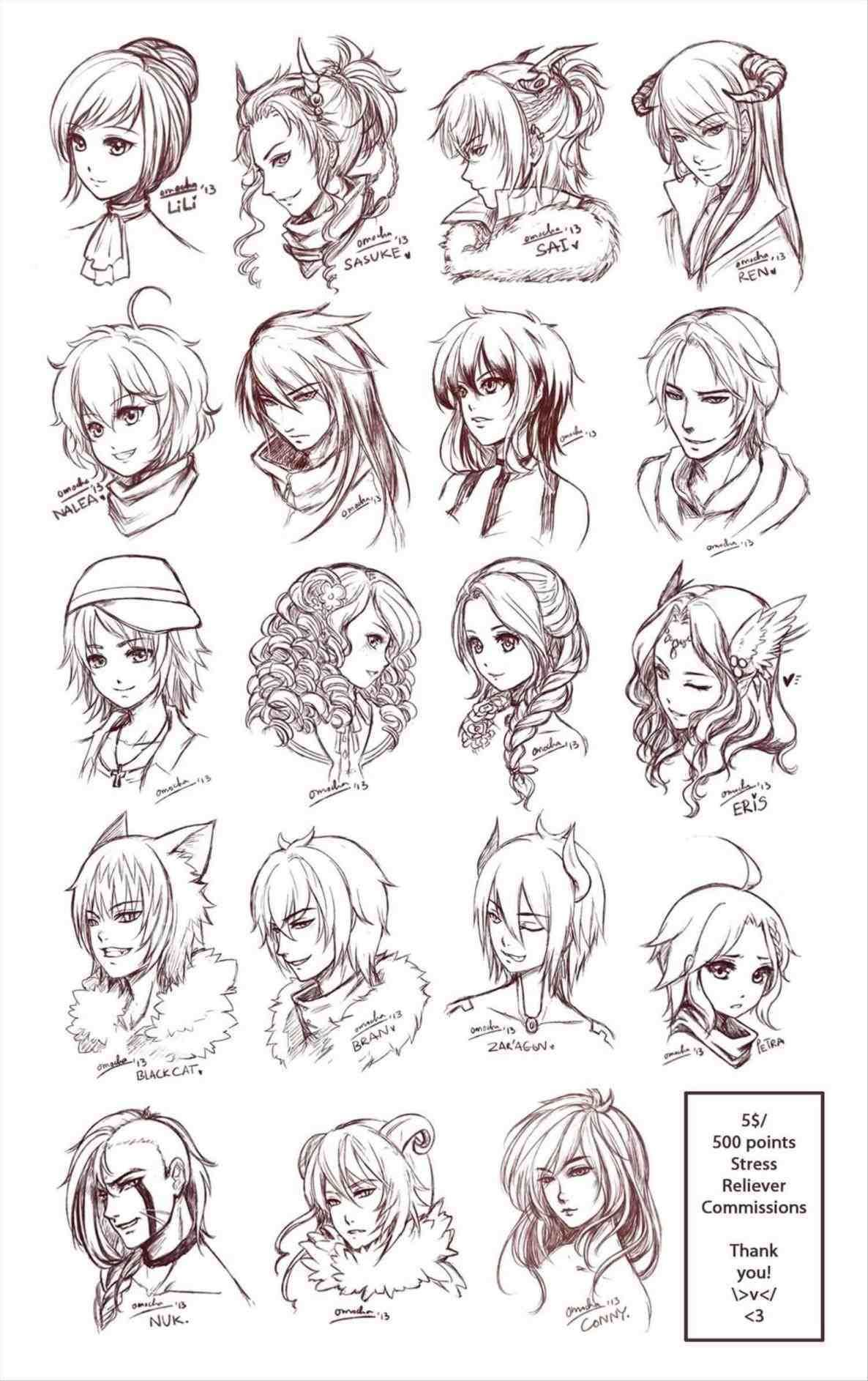 Drawn Curl Messy Bun 2 Drawing Art Drawn Girl Beanie 1 Wwwhaircutcolorcom Naturally Curly Bob With Balayage High And Sketch Head Drawing Sketches Sketches