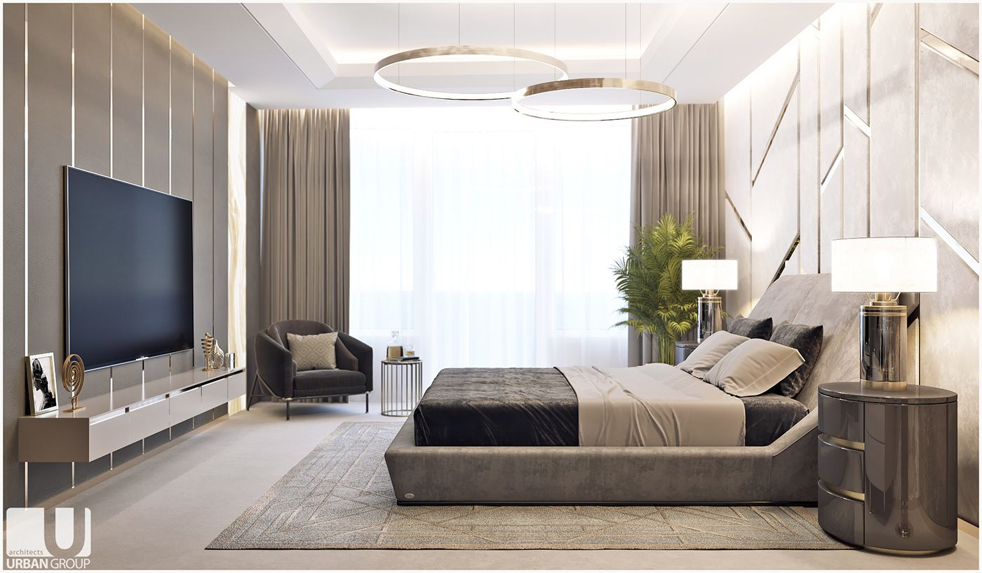 Luxury bedroom on Behance | Modern luxury bedroom ...