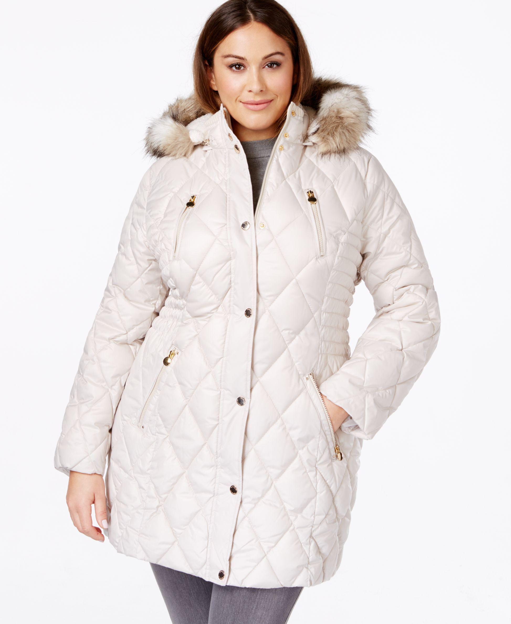Laundry By Design Plus Size Faux Fur Trim Quilted Coat Quilted Coat Coat Online Coat