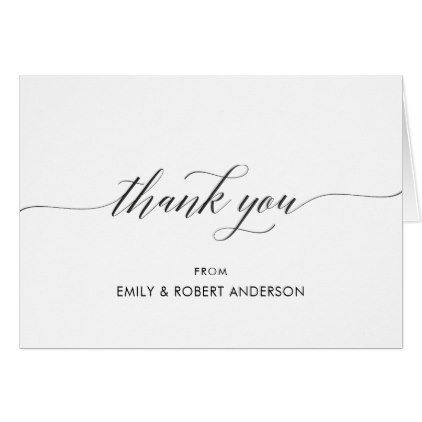 Elegant Wedding Thank You Cards Modern Classic Zazzle Com Wedding Thank You Cards Thank You Cards Thank You Gifts