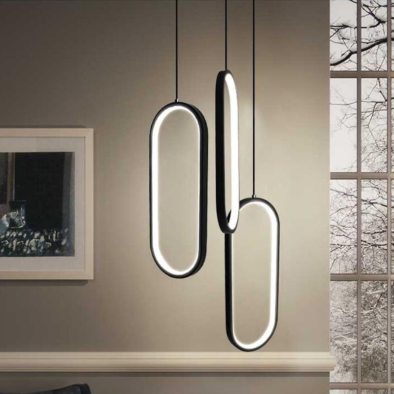 Black White Modern Led Pendant Lights Led Pendant Lights Modern