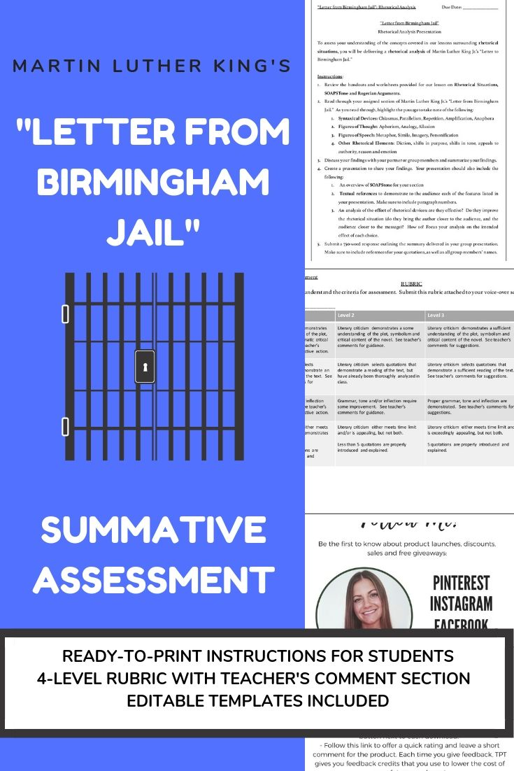 AP Lang Comp Letter From Birmingham Jail RHETORICAL