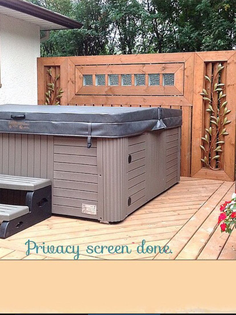 Privacy Screen For Hot Tub Backyard Spa Colorado Homes Pergola Designs