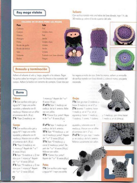 Nacimiento amigurumi rey y burro | Crochet: NAVIDAD | Pinterest ...