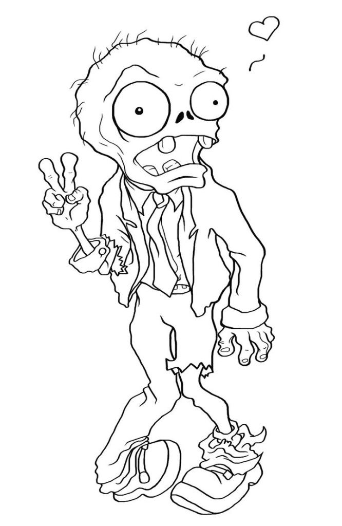 Zombie Coloring Pages Easy Photos