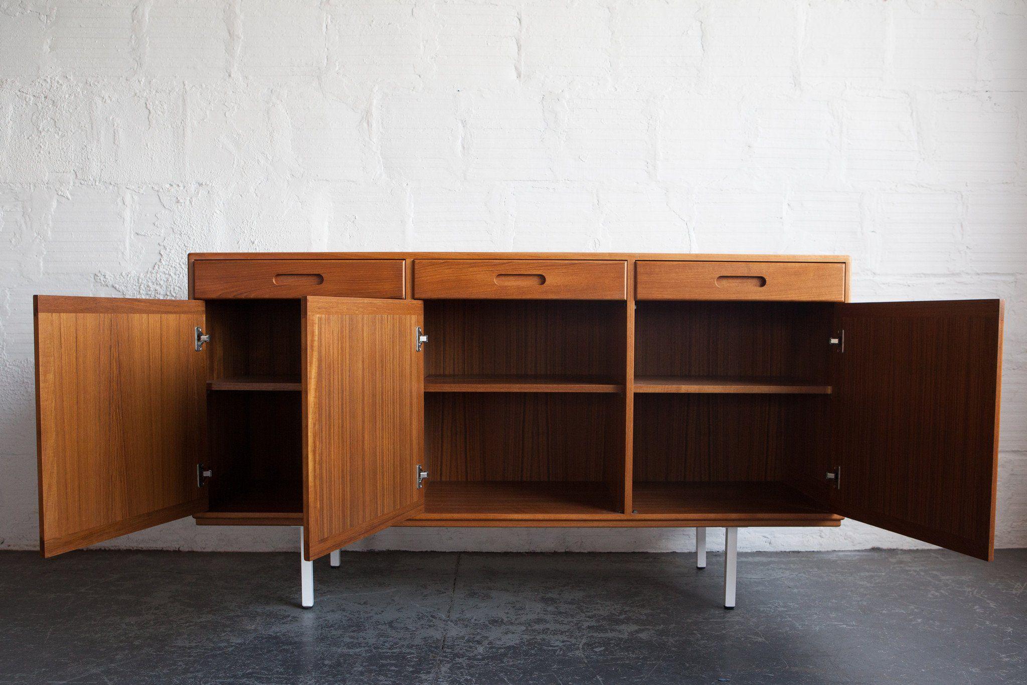 1960s Danish Credenza : Teak danish credenza dresser furniture and