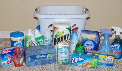 Cleaning Products In a Basket. This might sound lame, but this is ...