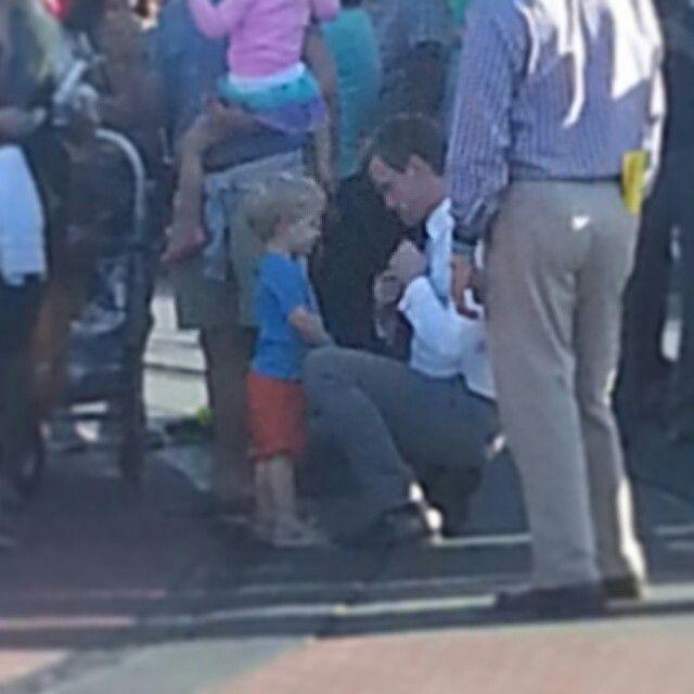 Gideon and papa cute family!