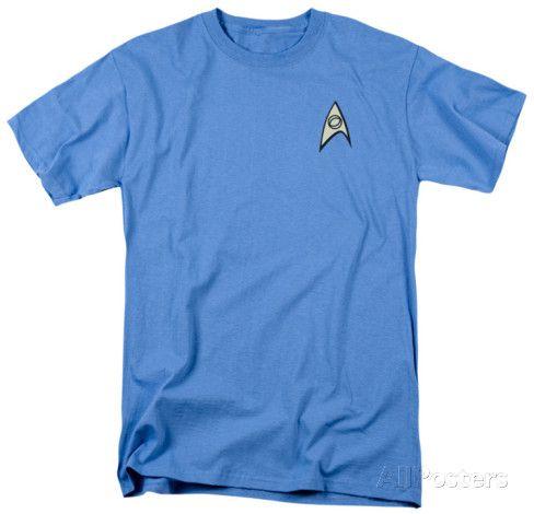 Star Trek - Science Uniform T-Shirt at AllPosters.com
