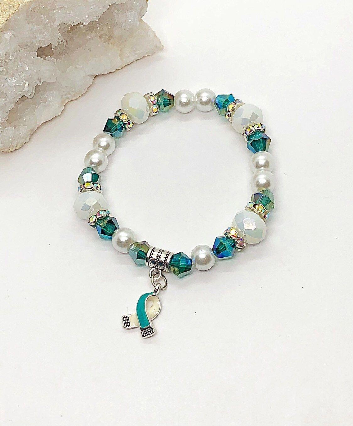 Beaded Jewelry Necklaces Beadedbracelets Beads Bracelet Design Cancer Awareness Bracelet Beaded Bracelets