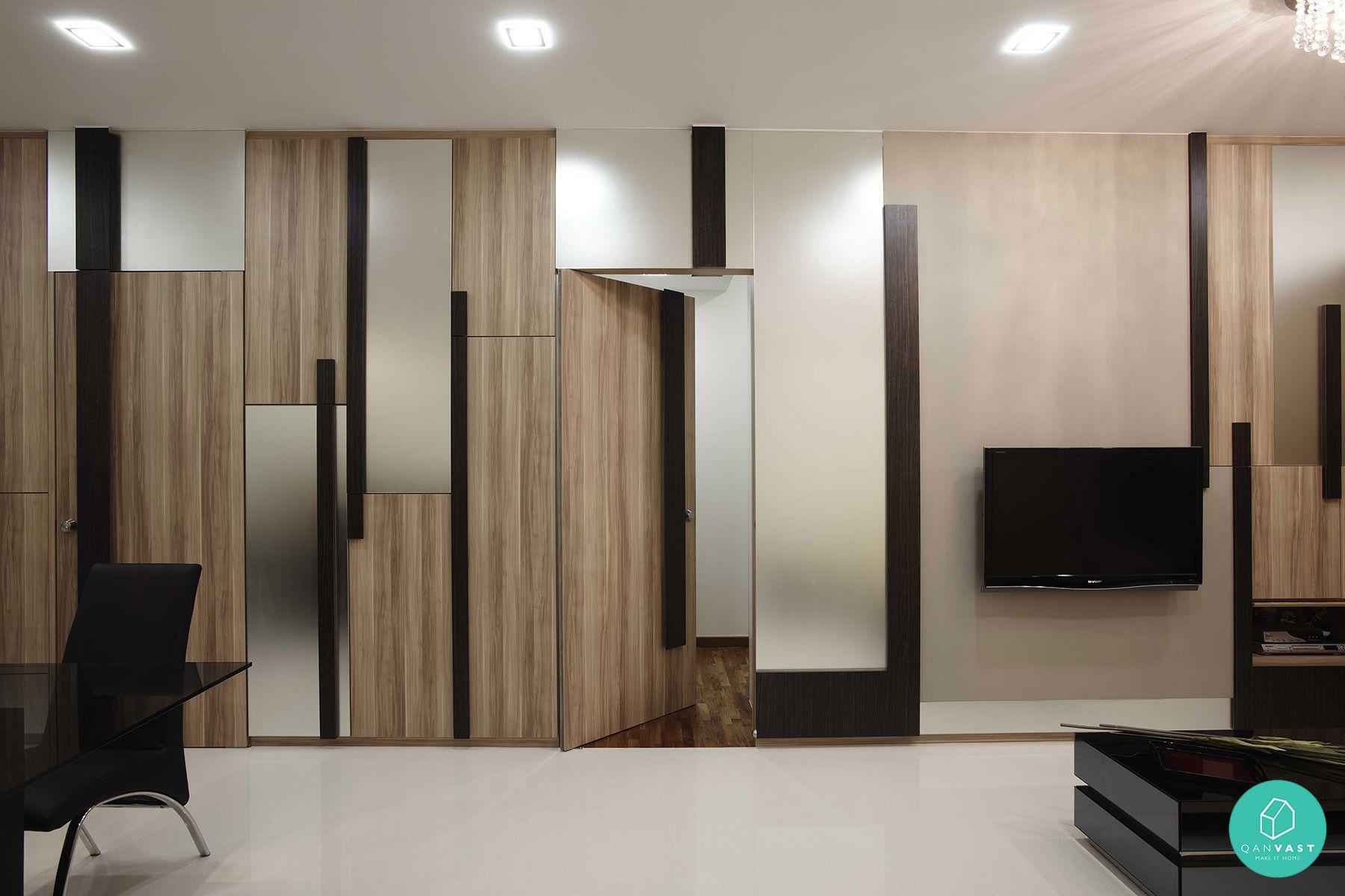 Hidden door concept Living room design small spaces