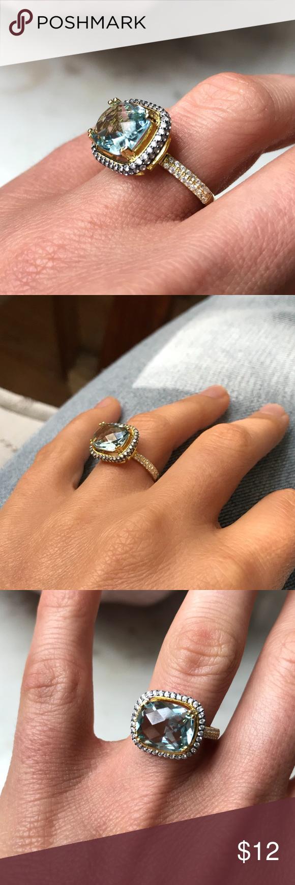 Teal Gemstone & Gold Ring Gold gemstone ring, Nordstrom