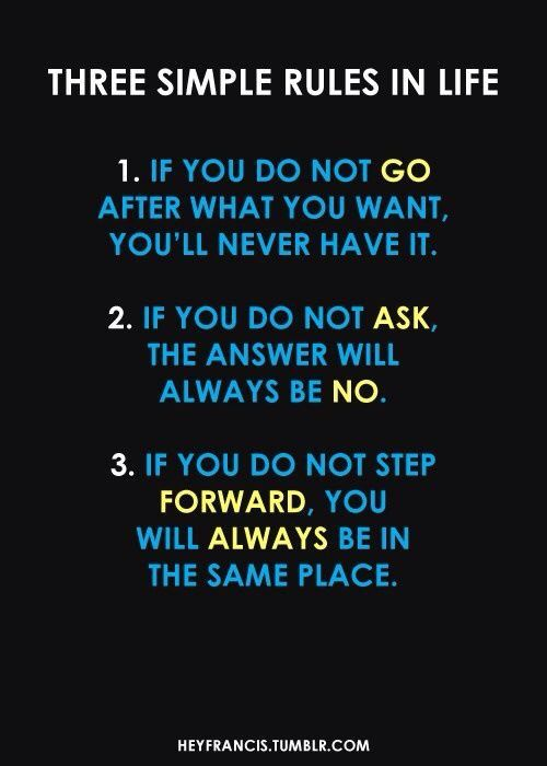 Life's Three Rules
