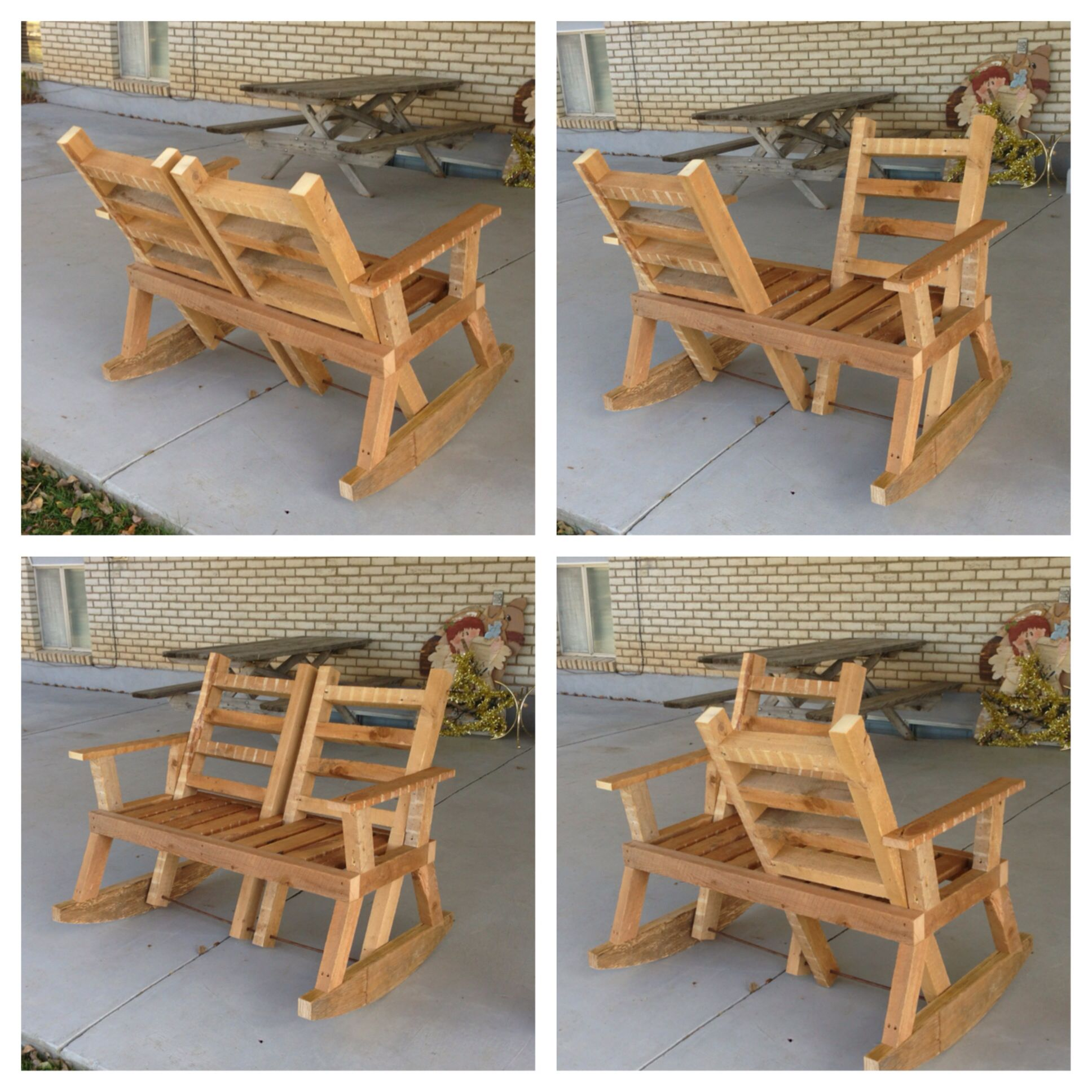 How to make a simple wooden rocking chair - Reversible Rocking Chair Sit And Talk And Face Any Way You Want To Built Diy