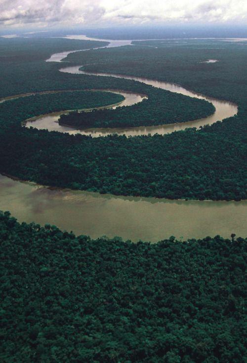 Meandering Tigre River Peruvian Amazon Amazon River Cruise Amazon River River