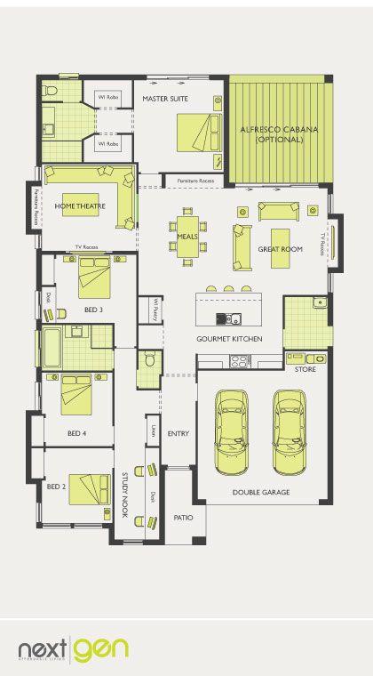Mcdonald Jones Homes Santorini Collection Floorplan Floorplans Luxuryhome Powder Rm Toilet Bu Floor Plans Small House Plans House Blueprints