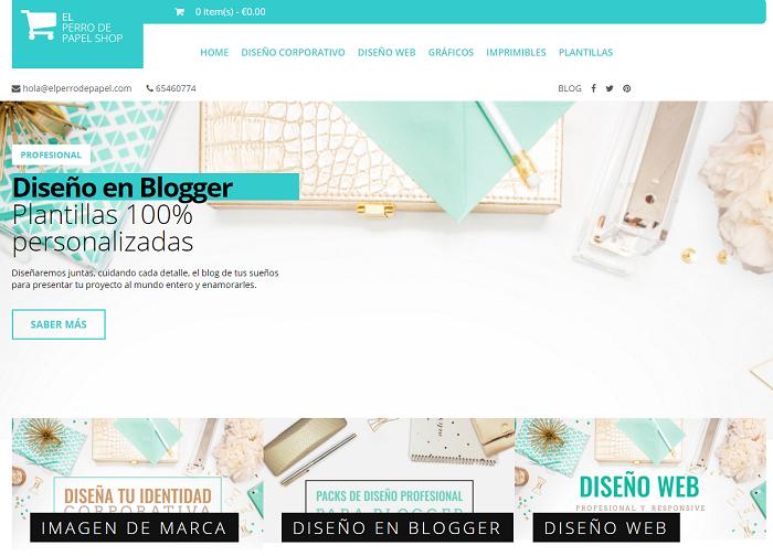 Plantilla Profesional y Responsive para hacer tiendas en Blogger ...