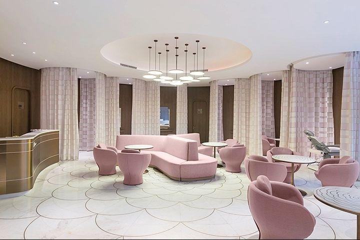 45cm luxury skincare center by ne on beijing china retail design blog sznek pinterest luxury commercial flooring and interiors - Commercial Interior Design Blog