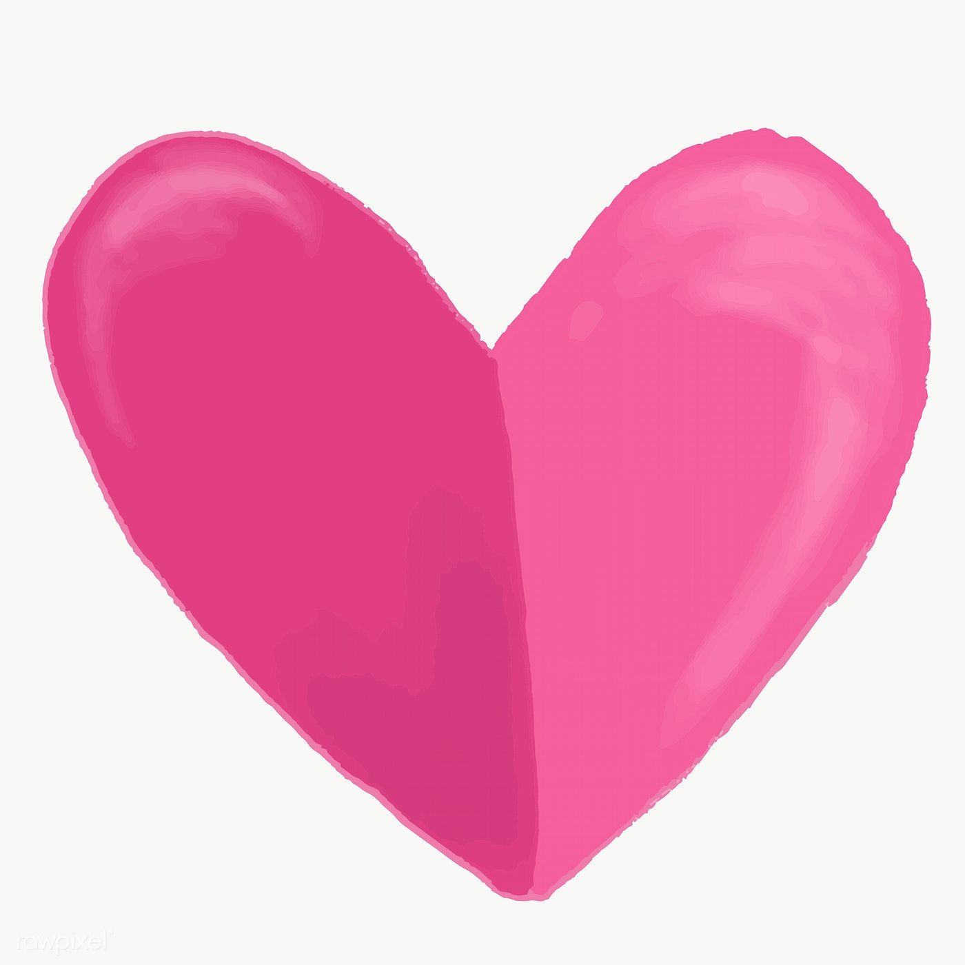 Cute Hand Drawn Pink Heart Element Free Image By Rawpixel Com Mac How To Draw Hands Pink Heart Stock Images Free