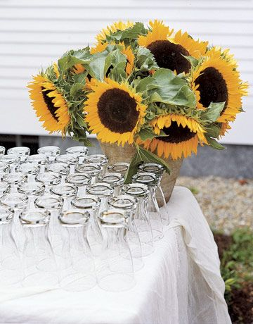 sunflower wedding style