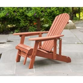 Leisure Season Cedar Stationary Adirondack Chair S With Slat Seat
