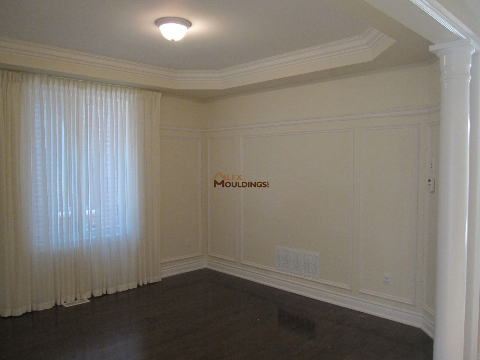 Full Wall Applications And Trim Wainscoting Pinterest - Cornice crown moulding toronto wainscoting coffered ceiling