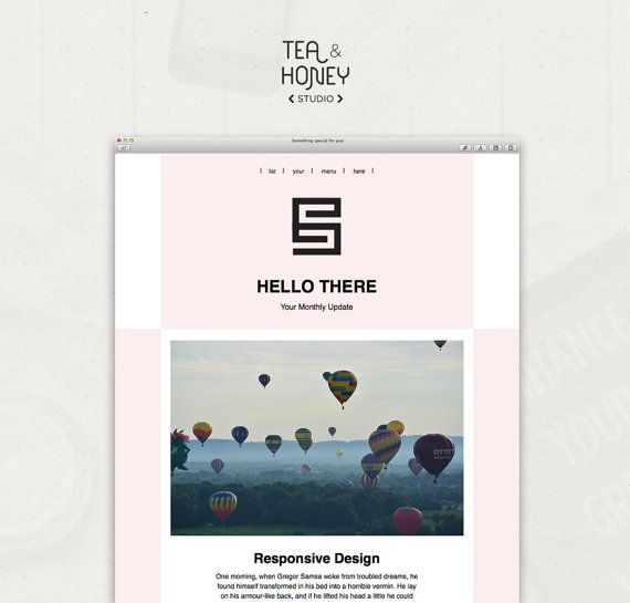 Email newsletter template mailchimp by teaandhoneystudio on etsy email newsletter template mailchimp by teaandhoneystudio on etsy pronofoot35fo Images