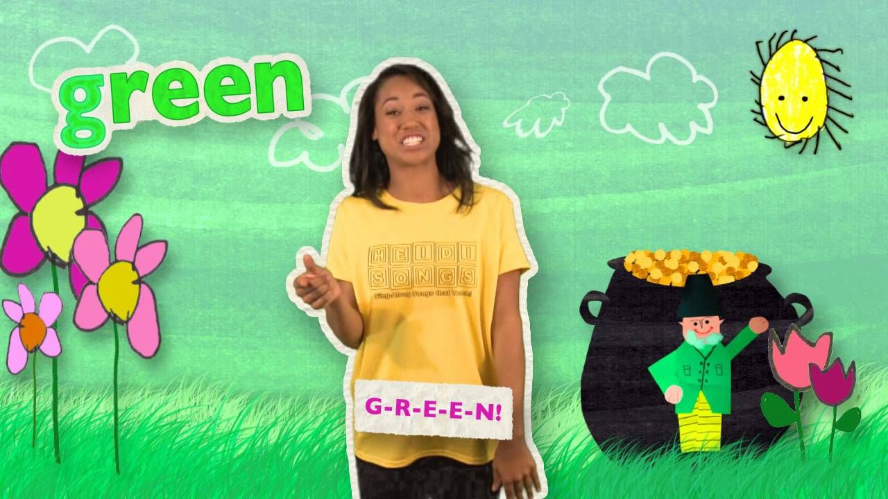 The GREEN Song | HeidiSongs\' Sing & Spell Colors! | Videos ...