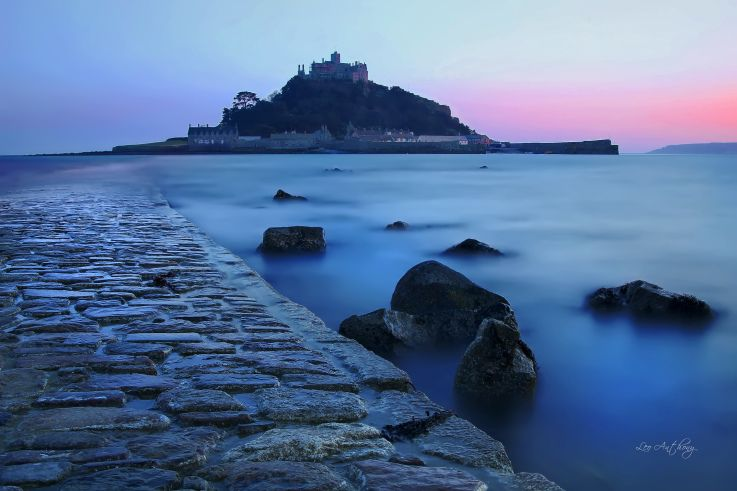 St, Michaels Mount, Cornwall by leo pera  tides, path