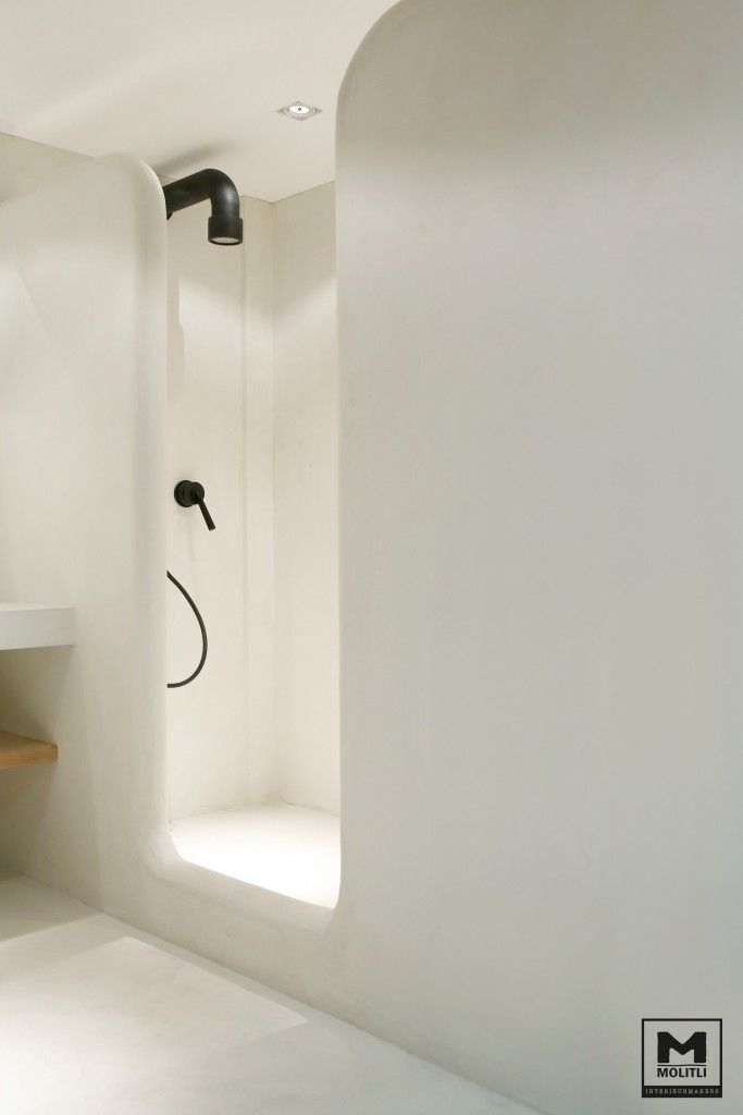 Badkamer betonstuc | | interior | Pinterest - Badkamer, Klussen en ...