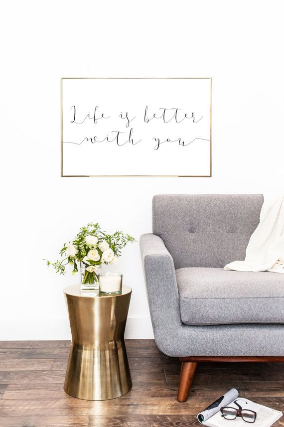 LIFE IS BETTER With You - Bedroom Sign - Nursery Sign - Printable ...