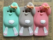 3D Cartoon Bunny Back Cover Case For Samsung Galaxy Grand Neo I9060 Plus i9060i&Grand Duos i9082 I9080 Rabbit Silicon Phone case