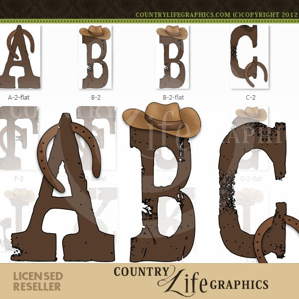 Country Western 1 - NE Country Life Graphics Alpha ...