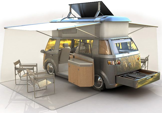 reinventing the vw microbus for the eco age green home pinterest vw camper vans vw and vans. Black Bedroom Furniture Sets. Home Design Ideas
