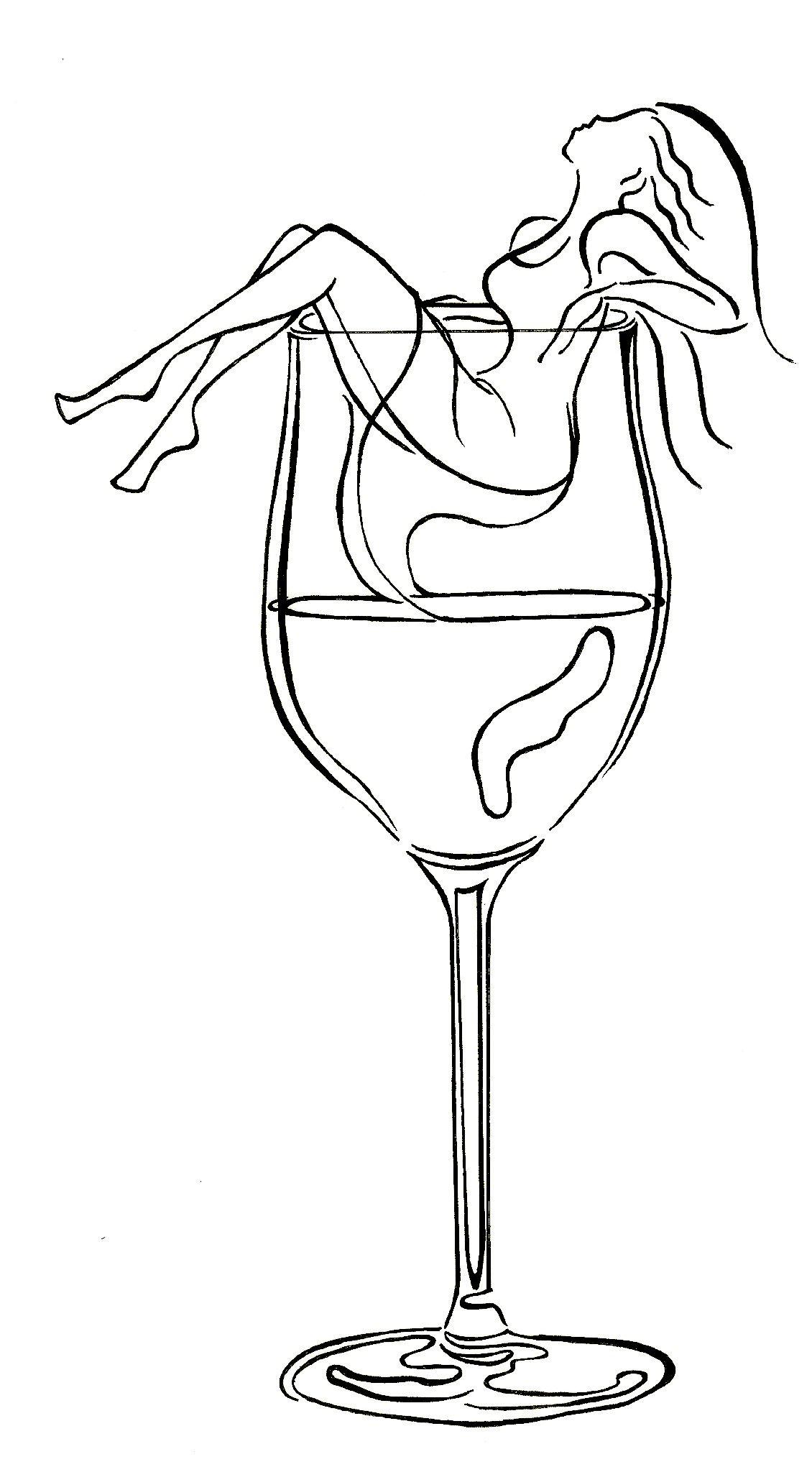 Image Detail For Women And Wine Arte De Silueta Tatuaje De Vino Arte De Vino