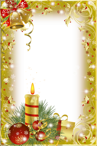christmas transparent png borders and frames | Gold ...
