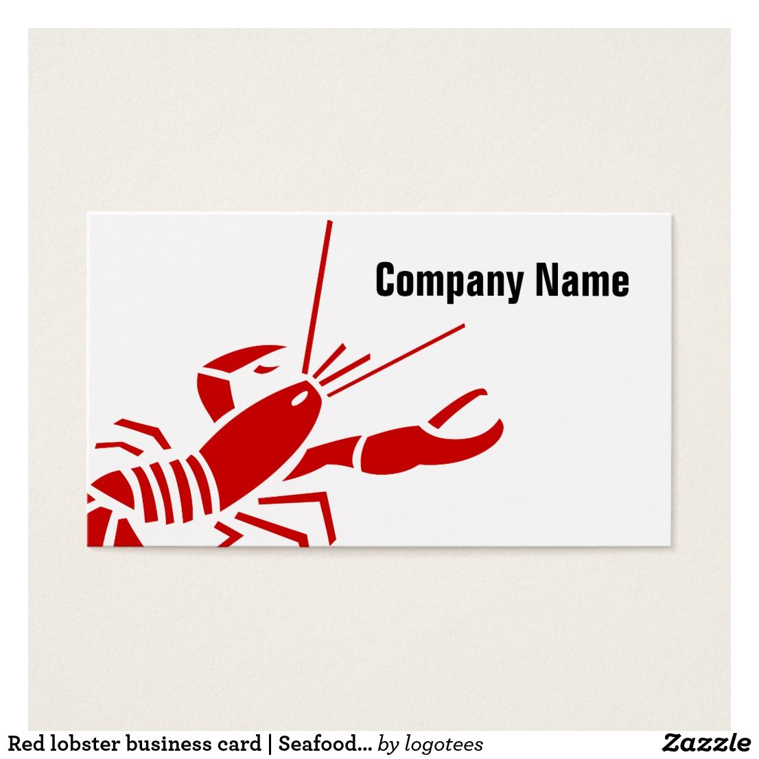 Red lobster business card | Seafood template | Pinterest | Seafood ...