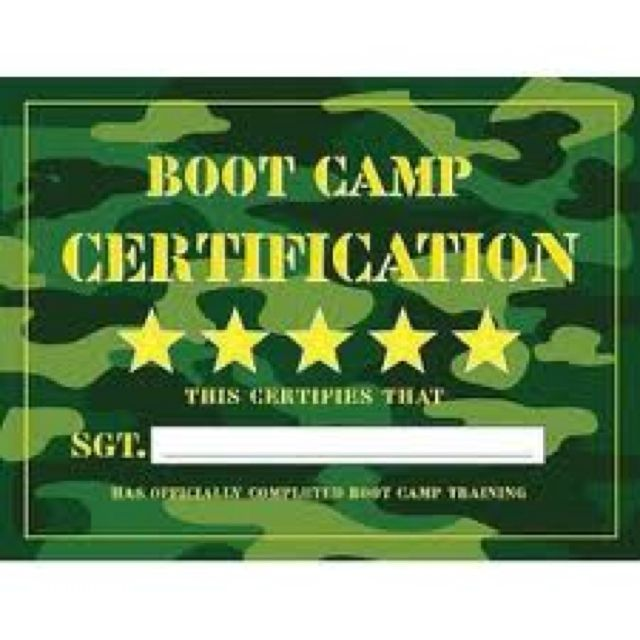 Boot camp theme boot camp pinterest boot camp camping and image detail for boot camp certificate pronofoot35fo Choice Image