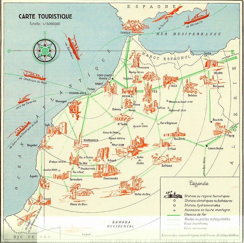 Maroc Atlas Historique Geographique Economique 1935 Page 4 Maroc Carte Touristique Geographie