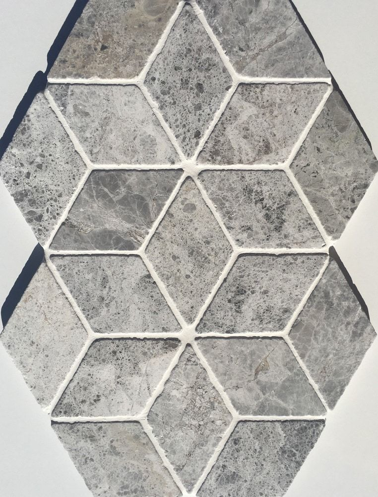 Builddirect Ayyildiz Marble Tundra Grey Rhoumbus Tumbled Marble Mosaic Tile Marble Mosaic Tile Backsplash Marble Mosaic Tiles Mosaic Tile Backsplash