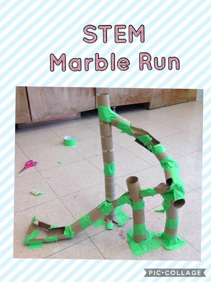 Cardboard Tube Marble Run Stem Stem Activities Preschool Stem Stem Classroom