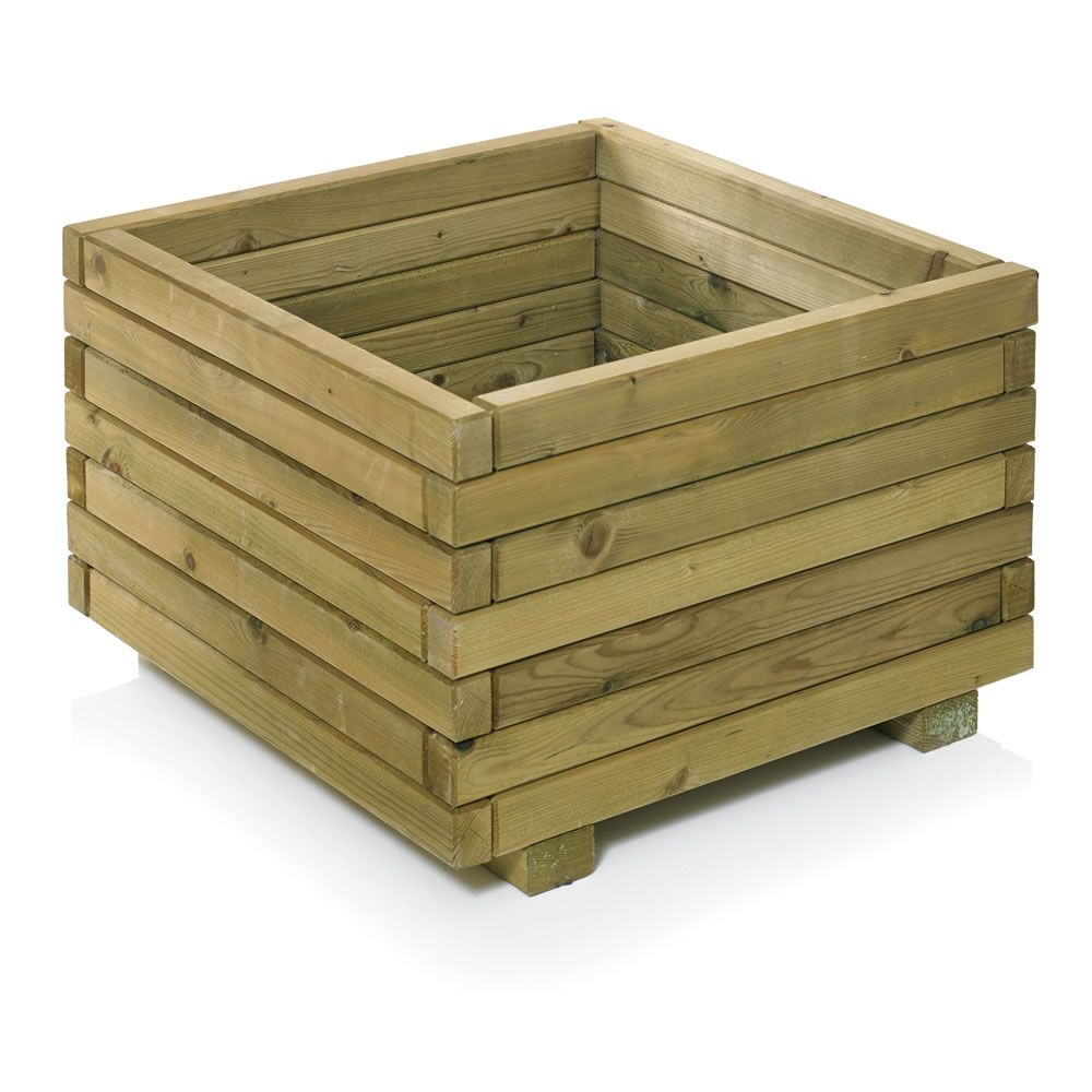 Rowlinson Square Wooden Garden Planter /& Lattice