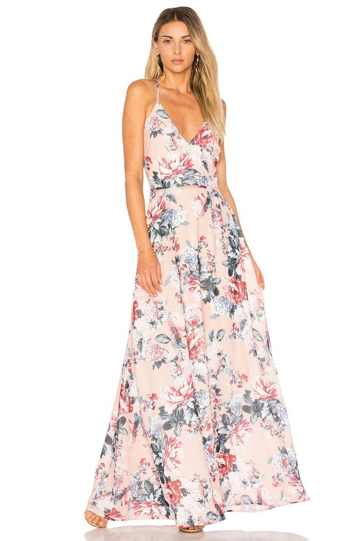 0e946ab1c86 Blush Floral Maxi Dress for Spring and Summer Weddings