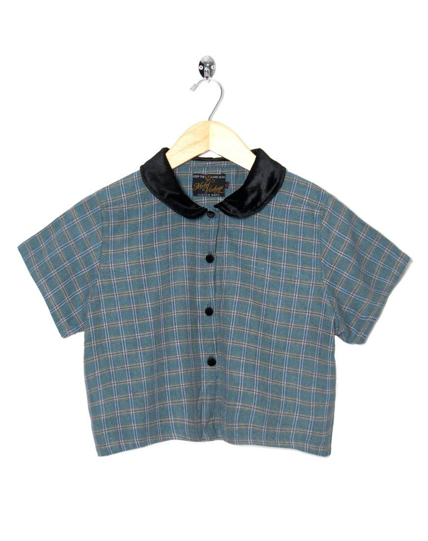 Motel Vintage Andy Blouse Full Check 0010 ONE SIZE