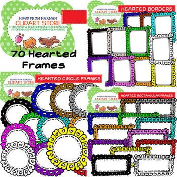 70 Colored Hearted Frames for Personal and Commercial Use ...