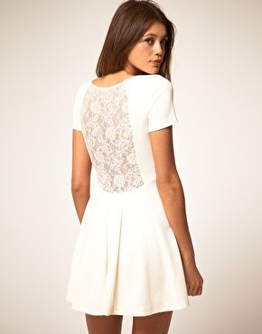 Just a plain front, but the back is so pretty. Lace obsession.