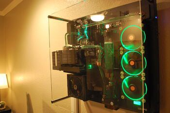 Thermaltake Core P5 Case Wall Mounted Custom Built Computers Core Really Cool Stuff