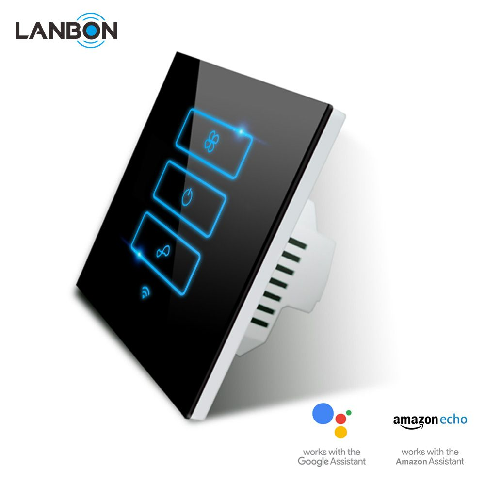 Lanbon Smart Home Electrical fan Switches WiFi Touch Screen