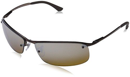 75ab58b6d9 RayBan RB 3183 Sunglasses Brown Frame Polarized Brown Pol Grad Silver  Mirror Lenses    For more information